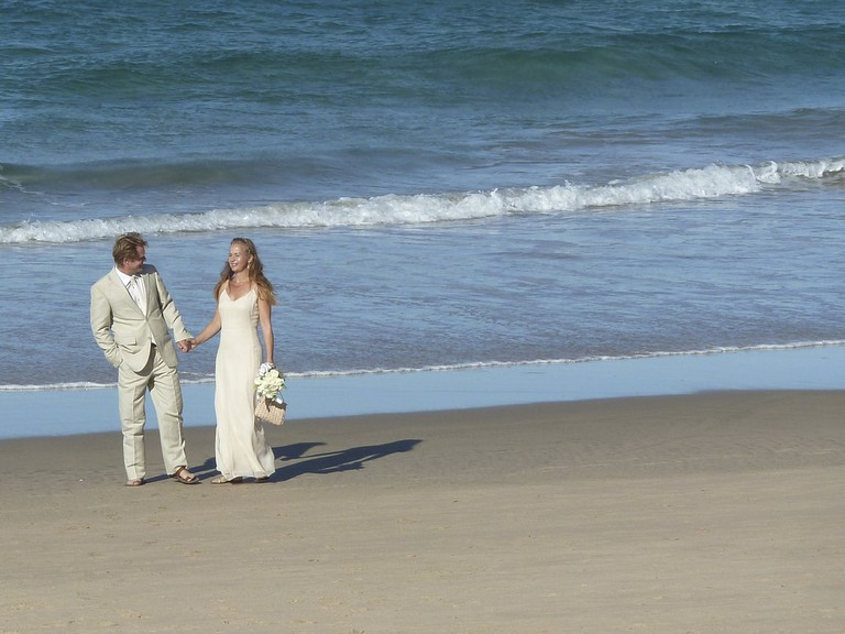 Beach wedding at Ponta do Ouro