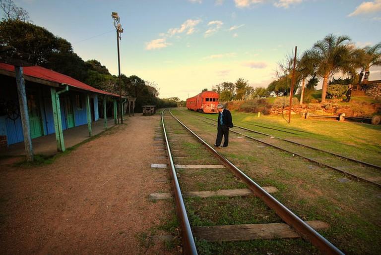 Old railroad at Pueblo Edén