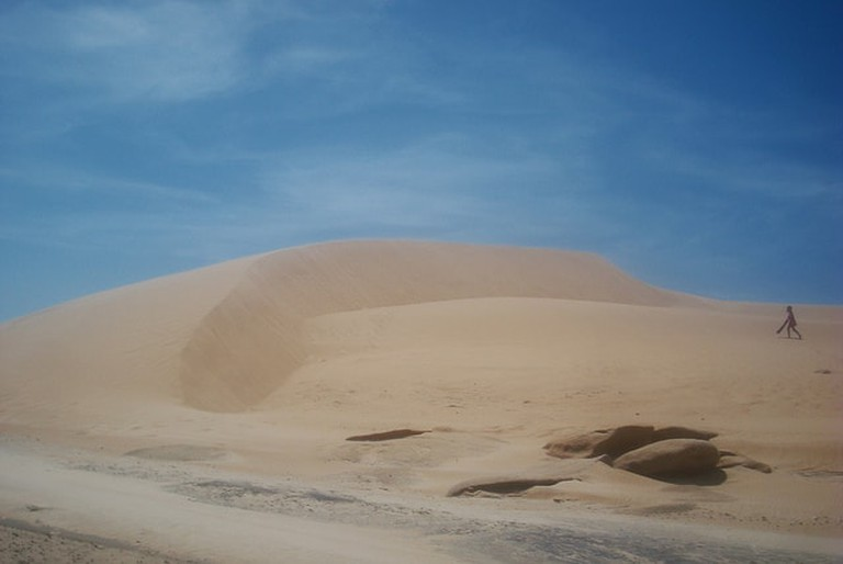 Sand dunes between Valizas and Cabo Polonio, Uruguay