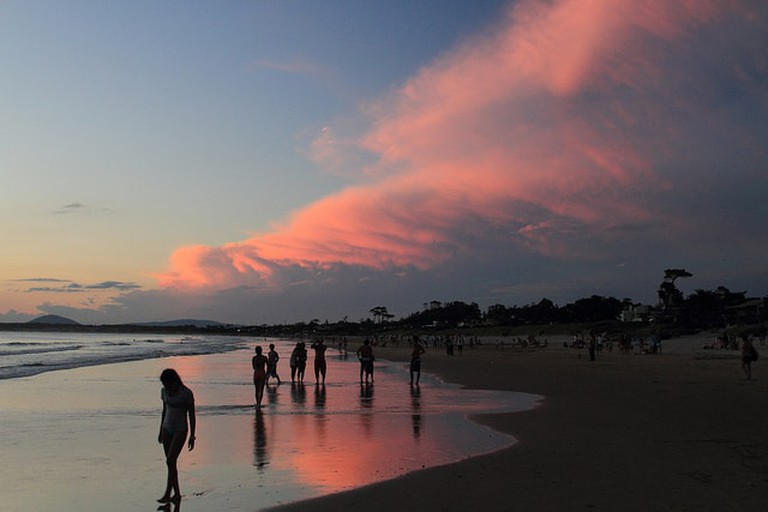 Beach in Portezuelo, Uruguay