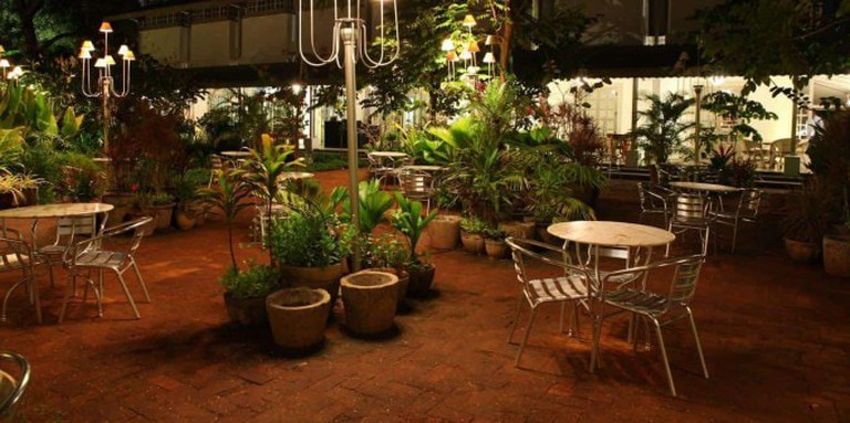 Outdoor Seating Area at Amethyst Cafe, Chennai