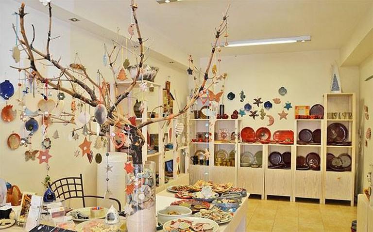Andriani's Ceramics Workshop & Café, Lithakia