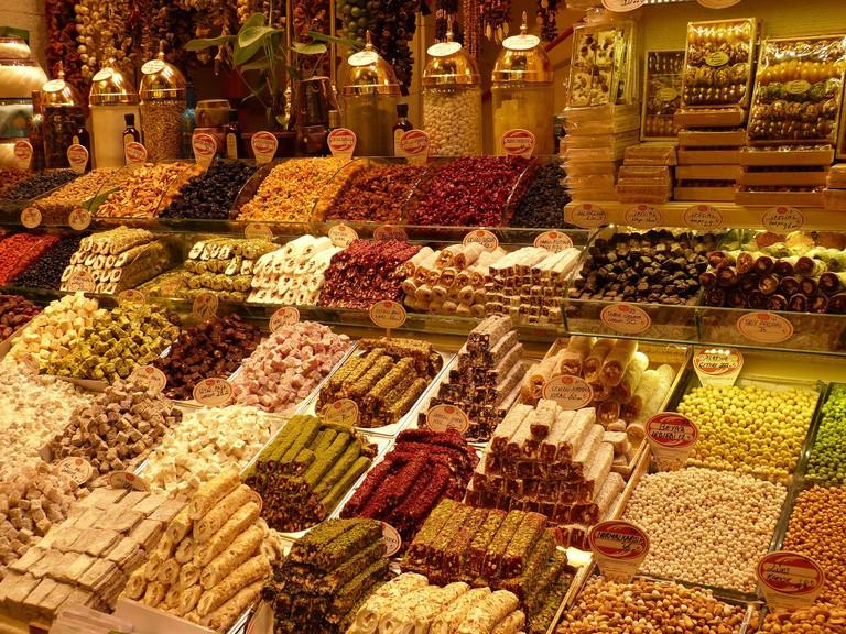 Turkish treats at the Naschmarkt