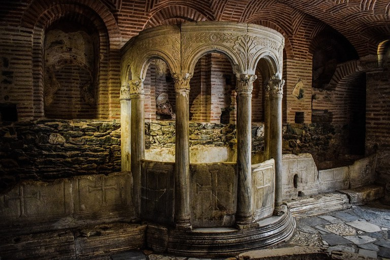 Inside the catacomb of Agios Dimitrios Church, Thessaloniki