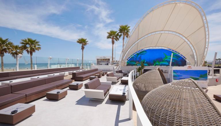 club01. The terrace at Marina Beach Club, Valencia.