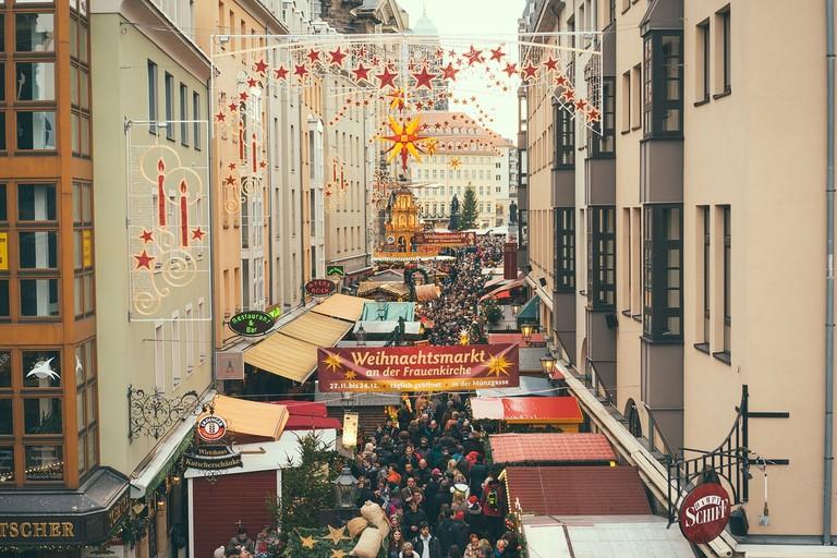 Christmas market at the Frauenkirche - Dresden, Münszgasse