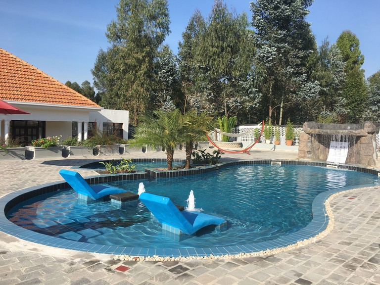 Swimming pool at Five Volcanoes Boutique Hotel