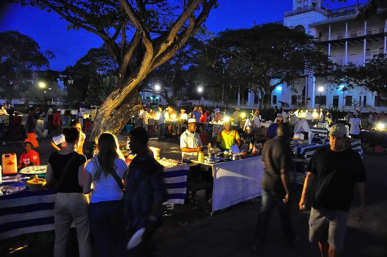 Forodhani food market at night
