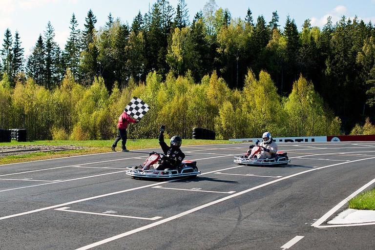 Karting at Rudskogen Motorsenter   Courtesy of Harald Huysman Karting AS