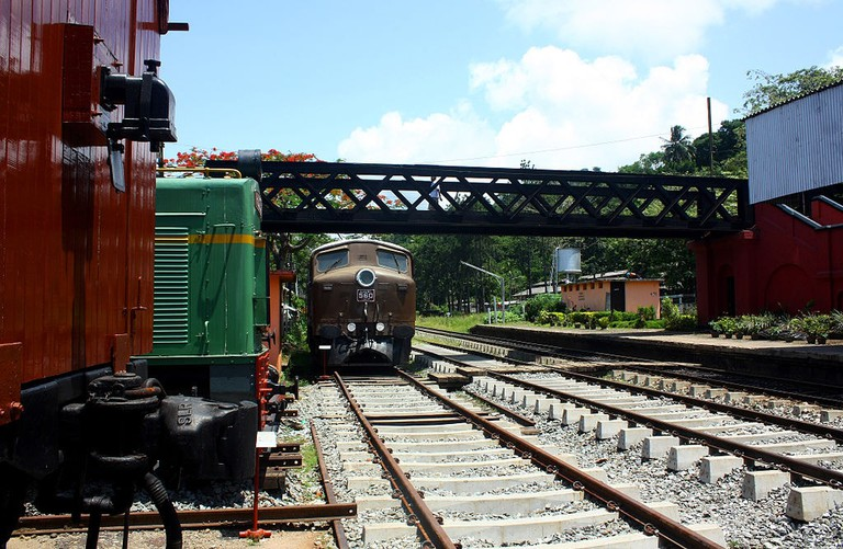 Trains and Locomotives are on display at the Railway Museum