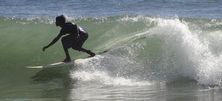 Surfing at Kovalam, Chennai