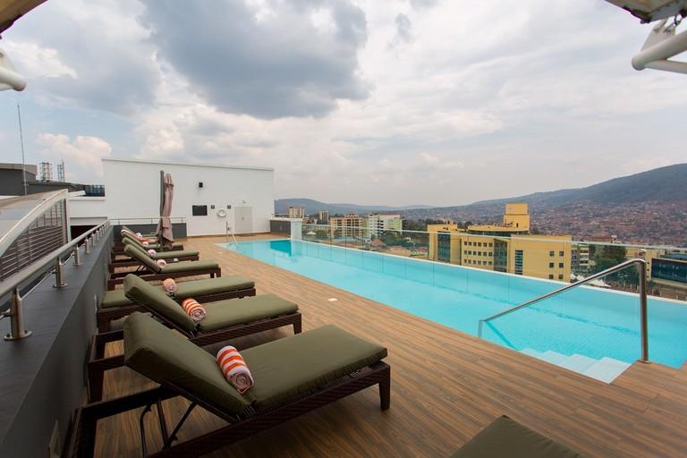 Rooftop pool at Ubumwe Grande Hotel