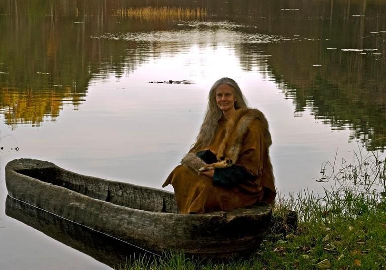 Woman in traditional clothing   Courtesy of Bronseplassen, Høvåg