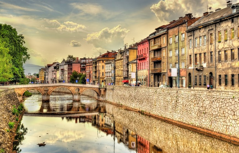 View of the historic centre of Sarajevo - Bosnia and Herzegovina | © Leonid Andronov/Shutterstock