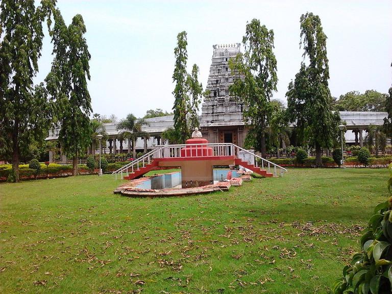The Mahatma Gandhi Memorial located within the Gandhi Mandapam complex