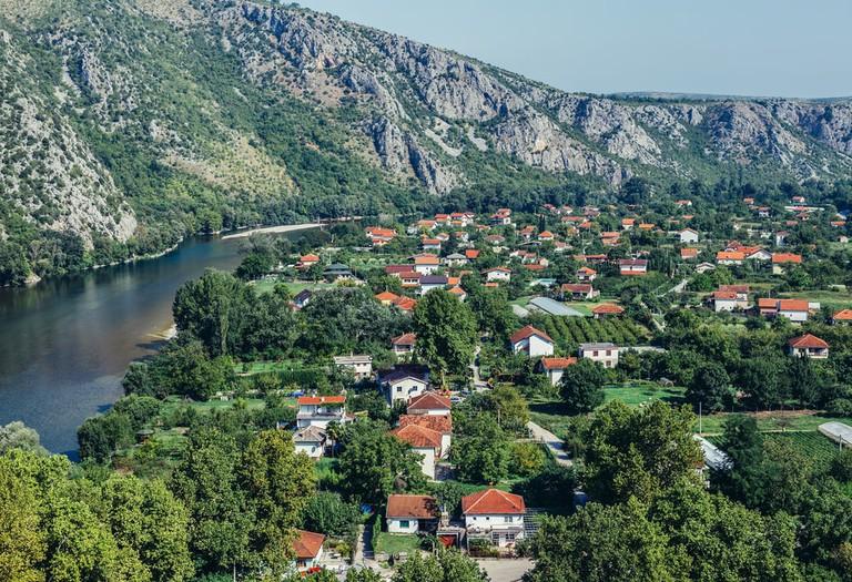 Aerial view on Pocitelj village in Capljina municipality | © Fotokon/Shutterstock