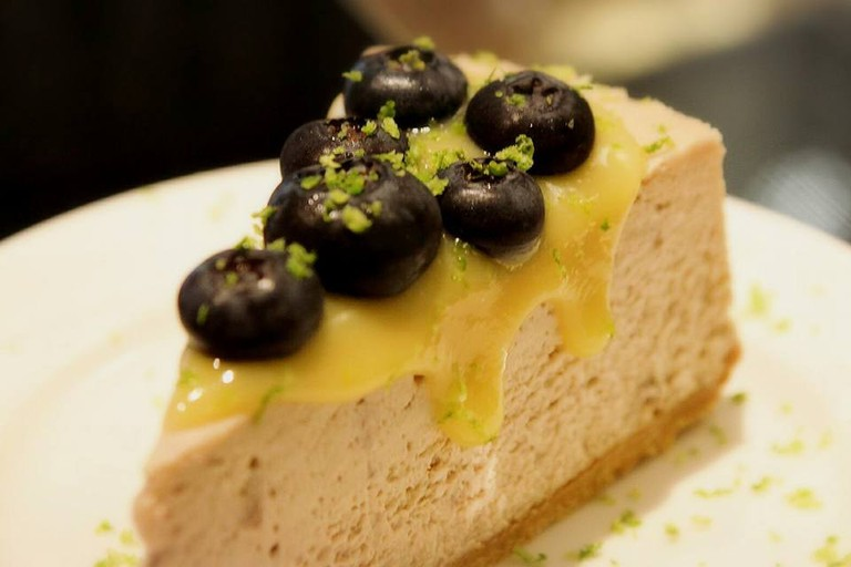 Wonderful blueberry cheesecake