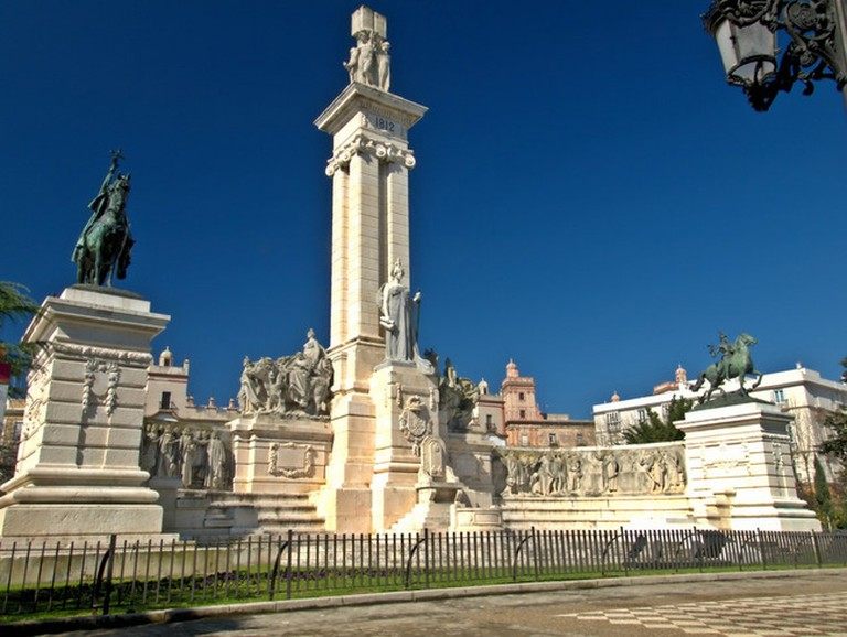 Cádiz's elegant Monument to the 1812 Spanish Constitution is just a two-minute stroll from Hotel Argantonio; Pepe Rodríguez Cordon