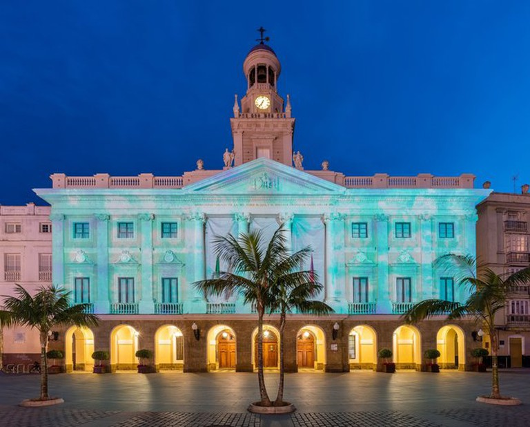 Cádiz's town hall on Plaza San Juan de Dios is just around the corner from Hostal Bahía