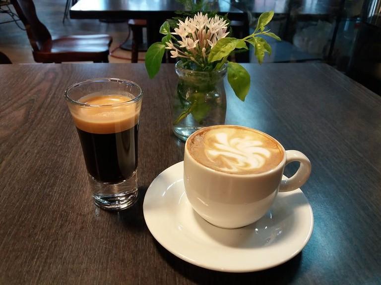 Piccolo Coffee at King Tang Cafe