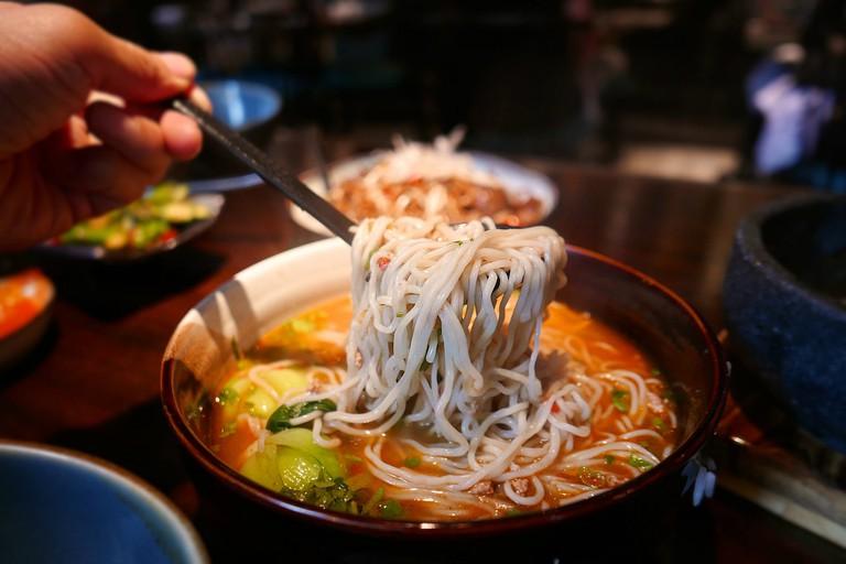 Typical lamian noodles