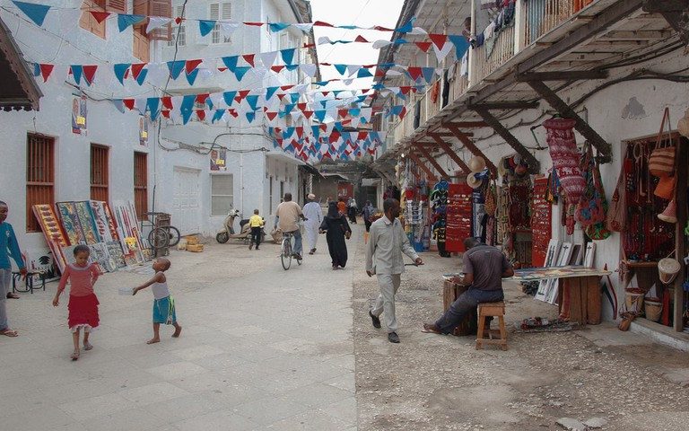 Street market in Zanzibar