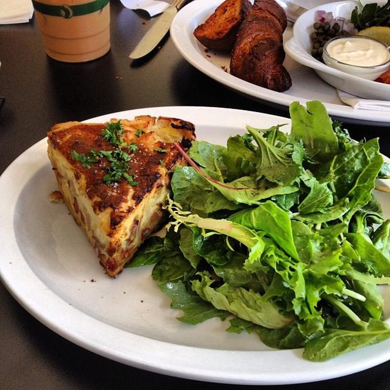Organic Quiche and Salad