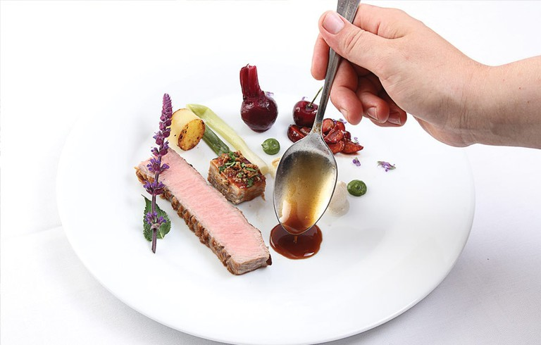 Enjoy consistently impressive dishes and a fine wine cellar