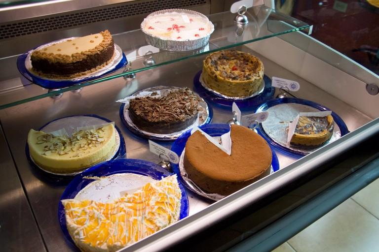 Cakes at Cafe Blue