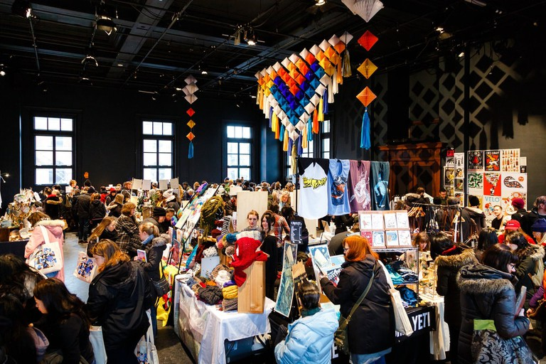 Visitors browsing handmade goods | Courtesy of City of Craft