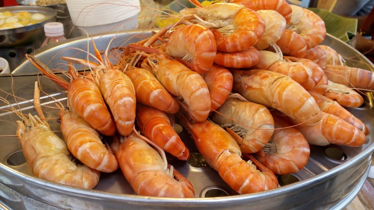 Fresh seafood features prominently on the menu