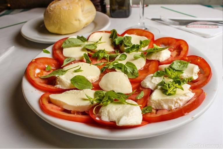 La Trattoria salad wth real mozzarella
