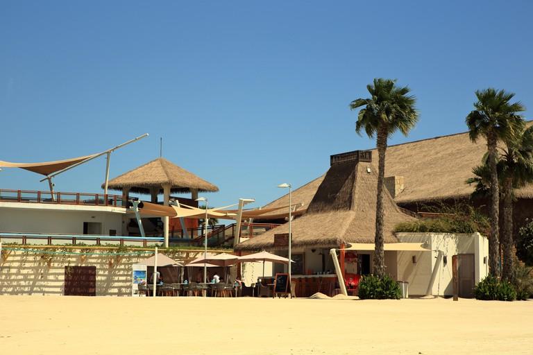 The beach cafe on Qatar's Banana Island beach resort