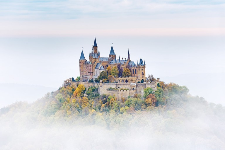 German Castle Hohenzollern over the Clouds   © ER_09/Shutterstock