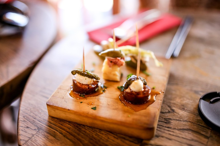 Choose from a range of starters or tapas