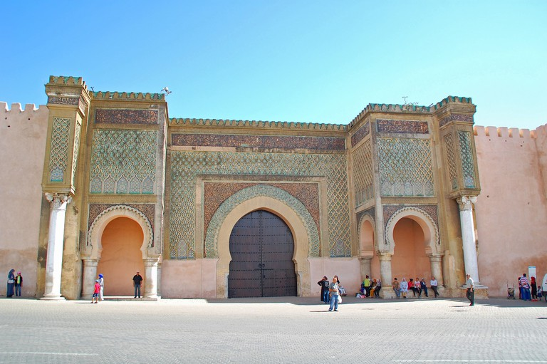The monumental gateway of Bab Mansour, Meknes