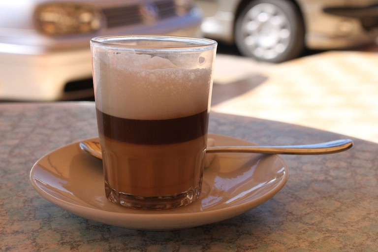 Three-layer coffee in Morocco