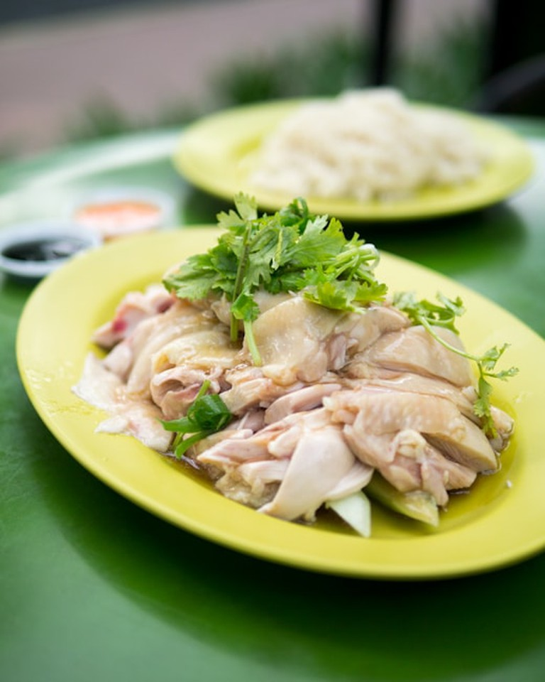 A heaping serving of Tian Tian Chicken Rice