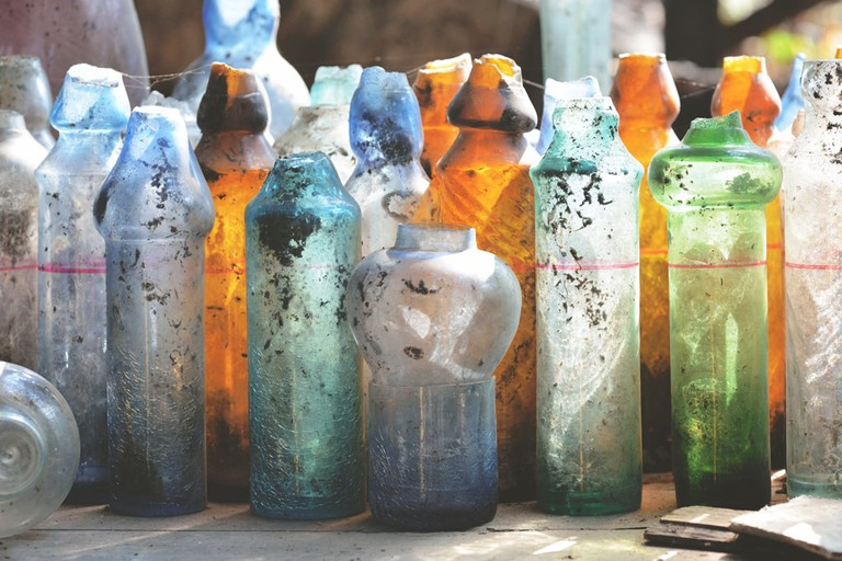 Colorful-Glassware-from-Nagar-Glass-Factory-Yangon