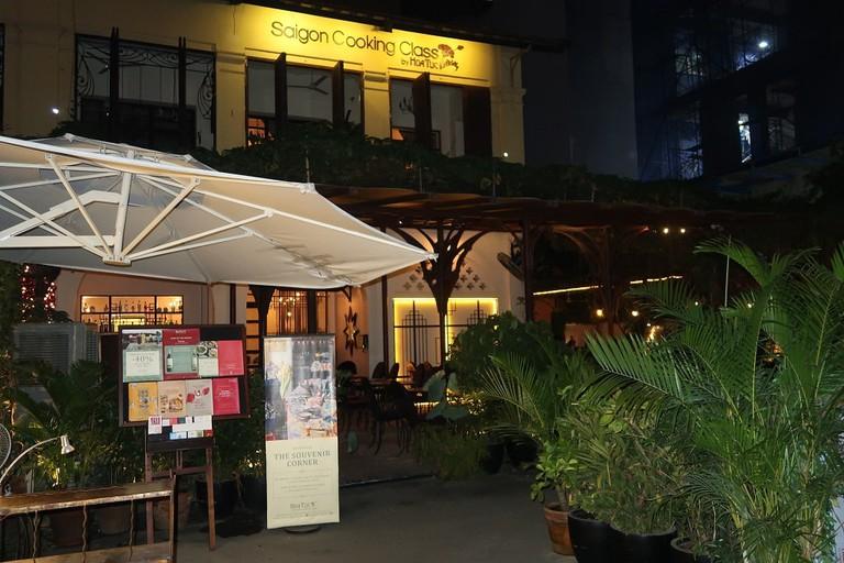 Hoa Tuc's garden terrace