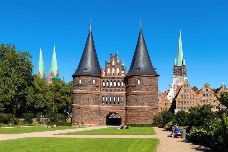 Holsten gate in Lübeck