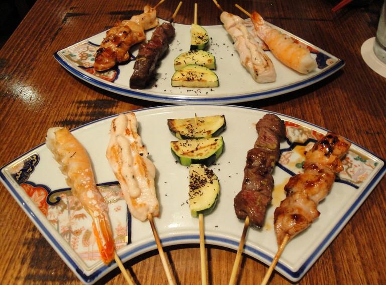 Mouthwatering Japanese skewers