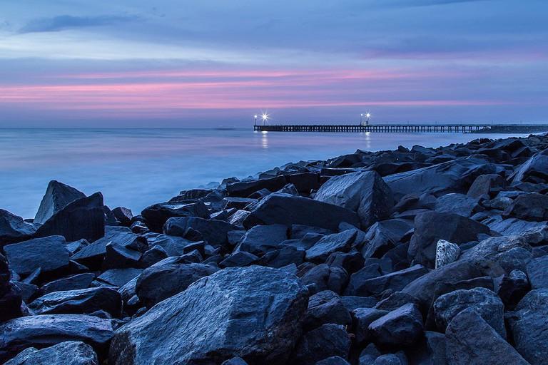 Promenade beach Sunset