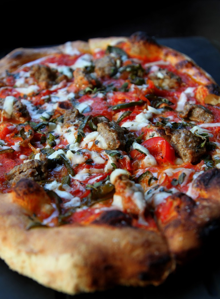 Sweet Fennel Sausage Roasted Red Peppers and Provolone