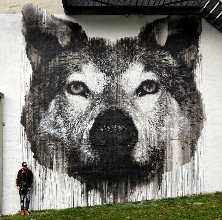 The Grey Wolf (2017) by Jussi TwoSeven | Courtesy of Jussi TwoSeven