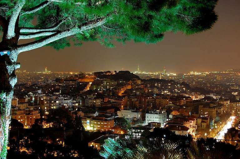 View from Restaurant Mirablau, Barcelona