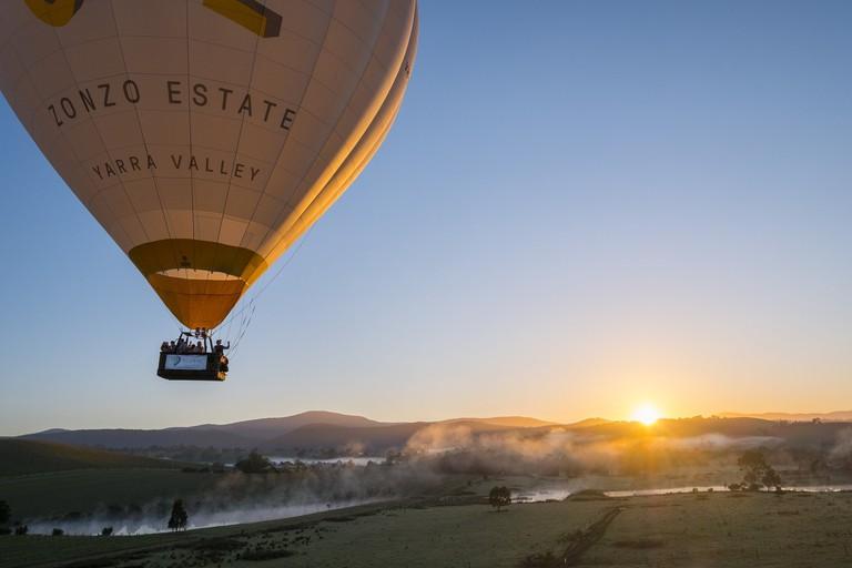 Hotair ballooning in Victoria's Yarra Valley