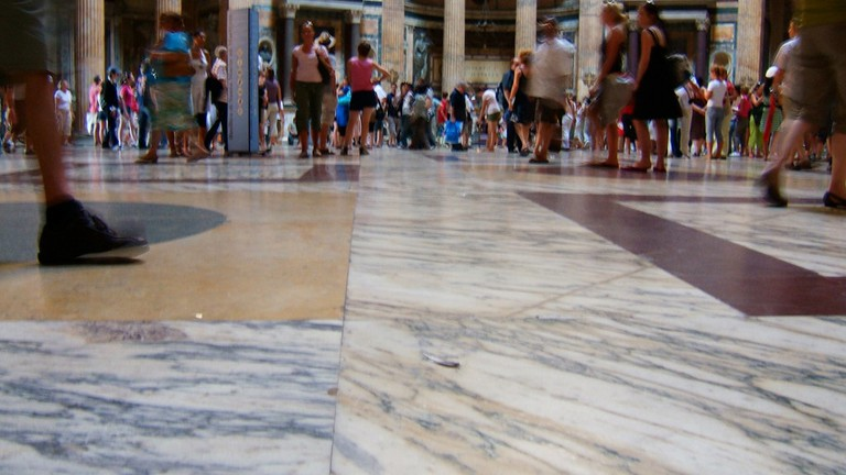 Don't forget to look down as well as up in the Pantheon | © Andy Hay/Flickr