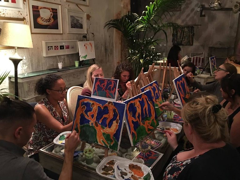 Paint & Wine at Alembic | © Courtesy of Lauren Lombardo