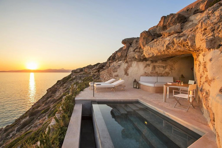 Private pool at Cap Rocat | Courtesy of Hotel Cap Rocat